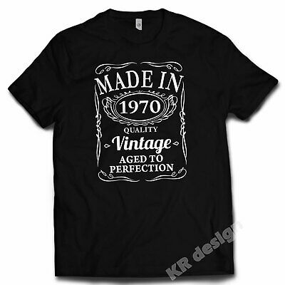 50th Birthday VINTAGE 1969 T-shirt AGED TO PERFECTION Gift Present 50 years old