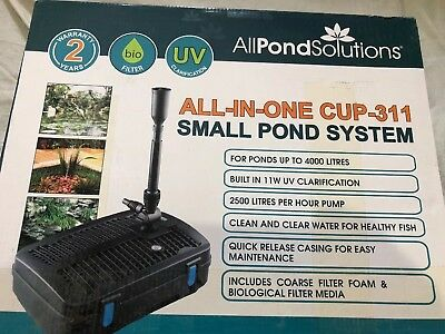 Pond Filter UV Steriliser Light UVC Fountain Pump All In One System CUP-311 01