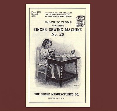 Singer 20 toy child sewhandy sewing machine INSTRUCTIONS 20-1