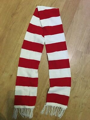 Red And White Scarf Ideal Football Or Wheres Wally