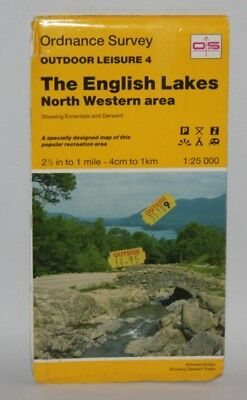 Ordnance Survey Outdoor Leisure Map - English Lakes, North Western Area- 1989