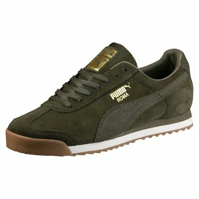 Puma Roma Natural Warmth Brand New Olive Green GVR Trainers-Size 8