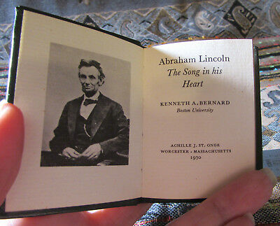 1970 Mini book Achille St Onge: ABRAHAM LINCOLN, THE SONG IN HIS HEART 1/1500