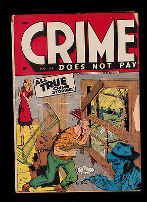 Crime Does Not Pay 38 Violent cover  flaky pages brittleness abounds