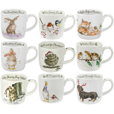 Wrendale Chrismas Mug Royal Worcester Animal Wild Animals Mugs Choice of Designs