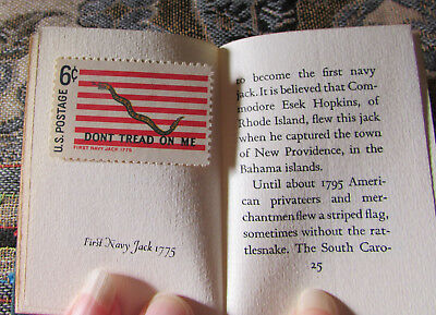 1968 Mini book Achille St Onge: HISTORIC AMERICAN FLAGS with US stamps, 1/2000