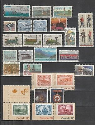Canada - Lot Of 27 Used Stamps.