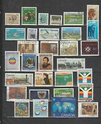 Canada - Lot Of 31 Used Stamps.