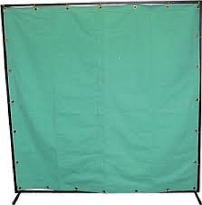 6'x6' HEAVY DUTY CANVAS WELDING CURTAIN C/W WELDING CURTAIN  FRAME AND RINGS