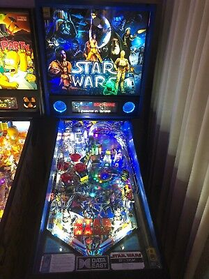 Star Wars Pinball Machine >> Starwars Pinball Machine Data East Reconditioned 6 500 00 Picclick