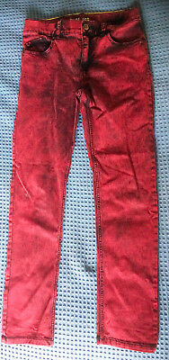 Hennes H&m Red Denim Childs Jeans, Age 9-10 Years