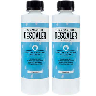 2-Pack Ice Machine Cleaner/Descaler - 8 Total Uses (4 Per Bottle) - Made in USA