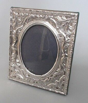 Vintage solid silver 4.75'' x 4'' photo frame, C.S.R. Ltd., London 1982