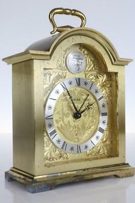 CARRIAGE or BRACKET CLOCK by SWIZA 8 day with alarm GOOD WORKING ORDER