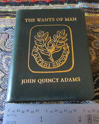 1962 Mini book Achille St Onge: THE WANTS OF MAN by John Quincy Adams 1/950