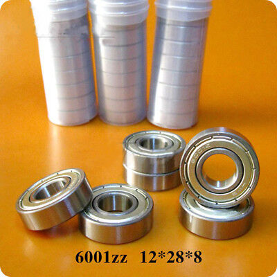 5Pcs Deep Groove Ball Bearing 180101 6001-ZZ 2Z 6001-2RS 12*28*8mm Bearing Steel