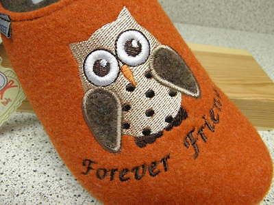 Tofee®  Wollfilz Eule Forever Friends orange  gratis Premium - Socken (T34)