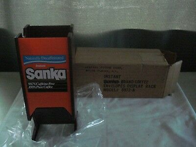 Vintage New Sanka Coffee Display With Original Box By General Foods!