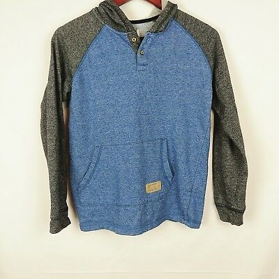 Lucky Brand California blue gray heathered hoodie with kangaroo pocket boys size
