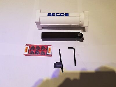 SECO TURNING TOOL PWLNL 2525M08 AND 10 off SANDVIK INSERTS.