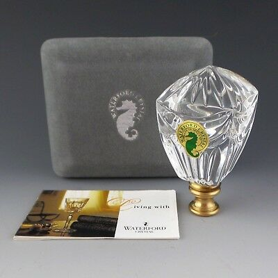 "Waterford Crystal LINDSAY Lamp FINIAL Top 3 1/8"" Tall Ireland Made for Harp"