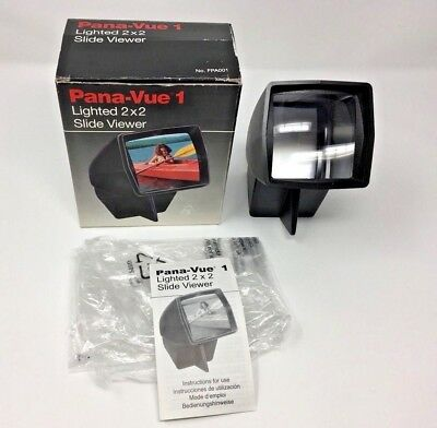 Pana-Vue 1 Lighted 2 x 2 Slide Viewer No. FPA001 Made in Spain