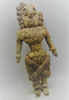 Finest Circa 2200-1800Bc Ancient Indus Valley Harappan Terracotta Fertility Idol