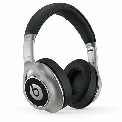 Authentic Beats By Dre. Executive Over-Ear Noise Cancelling Headphones Silver