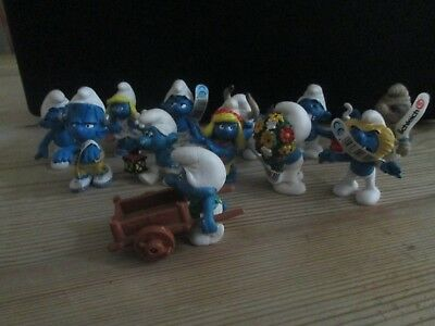 Collection Of 12  Varied Smurf Figures