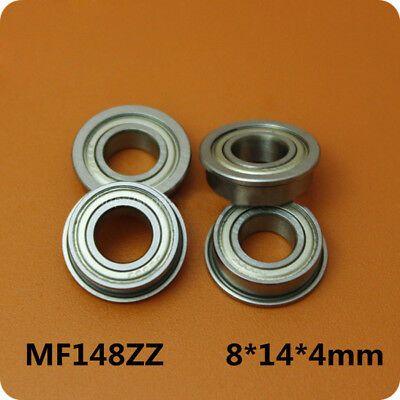 5pcs Outer Diameter With Flanged Miniature Bearings MF148ZZ Size 8*14*15.6*4mm