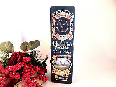 Glenfiddich Scotch Whiskey VTG Advertising Tin Clans of the Highland of Scotland