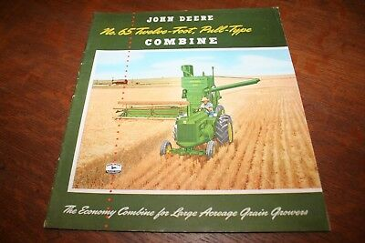 John Deere No. 65 Twelve Foot Pull Type Combine Brochure A775-51-5 1951 NEAT!