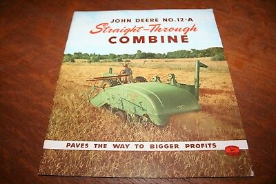 John Deere No. 12-A Straight-Through 6 Foot Pull Type Combine Brochure 1946!