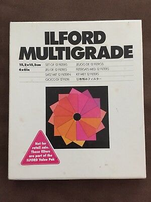 Ilford Multigrade Filter Set, 12 Filters, 6x6 in