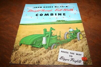 John Deere No. 12-A Straight-Through 6 Foot Pull Type Combine Brochure 1950!
