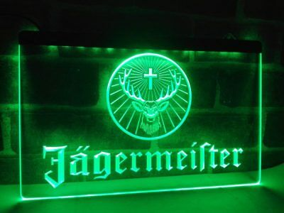 Jagermeister Sign LED Neon Light Jager Bomb Neon Mens Party Supply Bar Open Beer