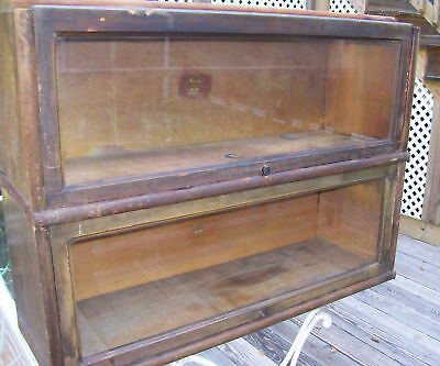 ANTIQUE MACEY'S BARRISTER BOOKCASE - 2 INSERT SECTIONS - 910, finish 55 - AS IS