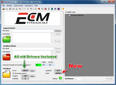 Ecm Titanium 1.61 with 26100 Drivers Soft of Tuning Remap Control Unit ECU Tuner
