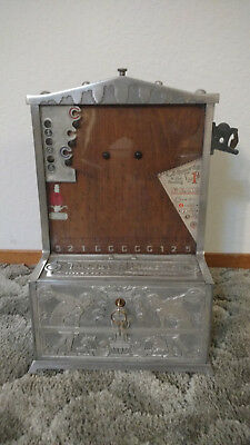 Antique Coin-Op Mills Novelty Machine Trade Stimulator Target Practice Slot 1C