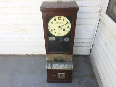 Antique National Time Recorder Factory Punch Clock