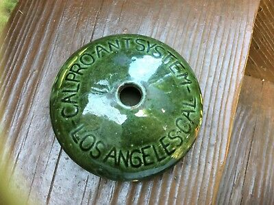 Antique Calpro Ant System - poison kills ants - Patd. June 2 1925; Green Pottery