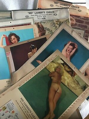 LARGE LOT 50's & 60's Nude Pin Up Girl VINTAGE Advertising Calendar