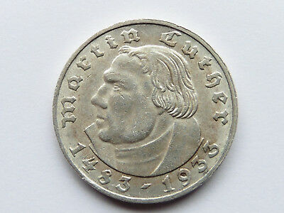 F645    DRITTES REICH 2,- Mark  1933 A Luther