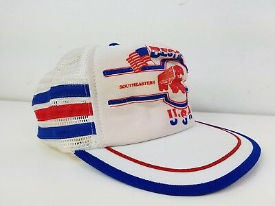 Vintage Southeastern Freight Lines 3 Stripe Snapback Mesh Hat Truckers Cap