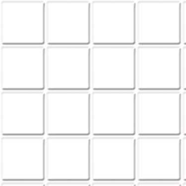 """FAMOUS FLOORING 1"""" Scale Dollhouse Tile: 1/4 Inch Squares 12x16 White FF60610"""