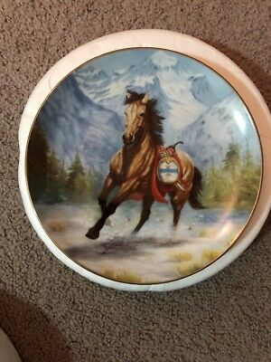 New War Ponies of the Plains Thunderfoot Gregory Perillo Danbury Mint Plate