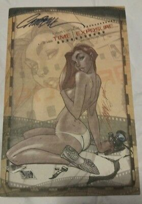"""J Scott Campbell 2005 """"Time Exposure"""" Sketchbook New Condition"""