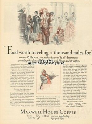 1925 Maxwell House Hotel Nashville TN-Coffee-O Henry-Food Worth Traveling For Ad