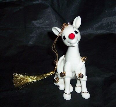 Lenox Rudolph Co Rudolph the Red Nose Reindeer Rings in the Holiday Ornament