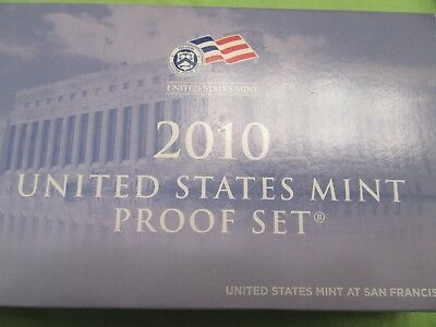 2010-S United States Mint Proof (14) Coin Set with Box & CoA